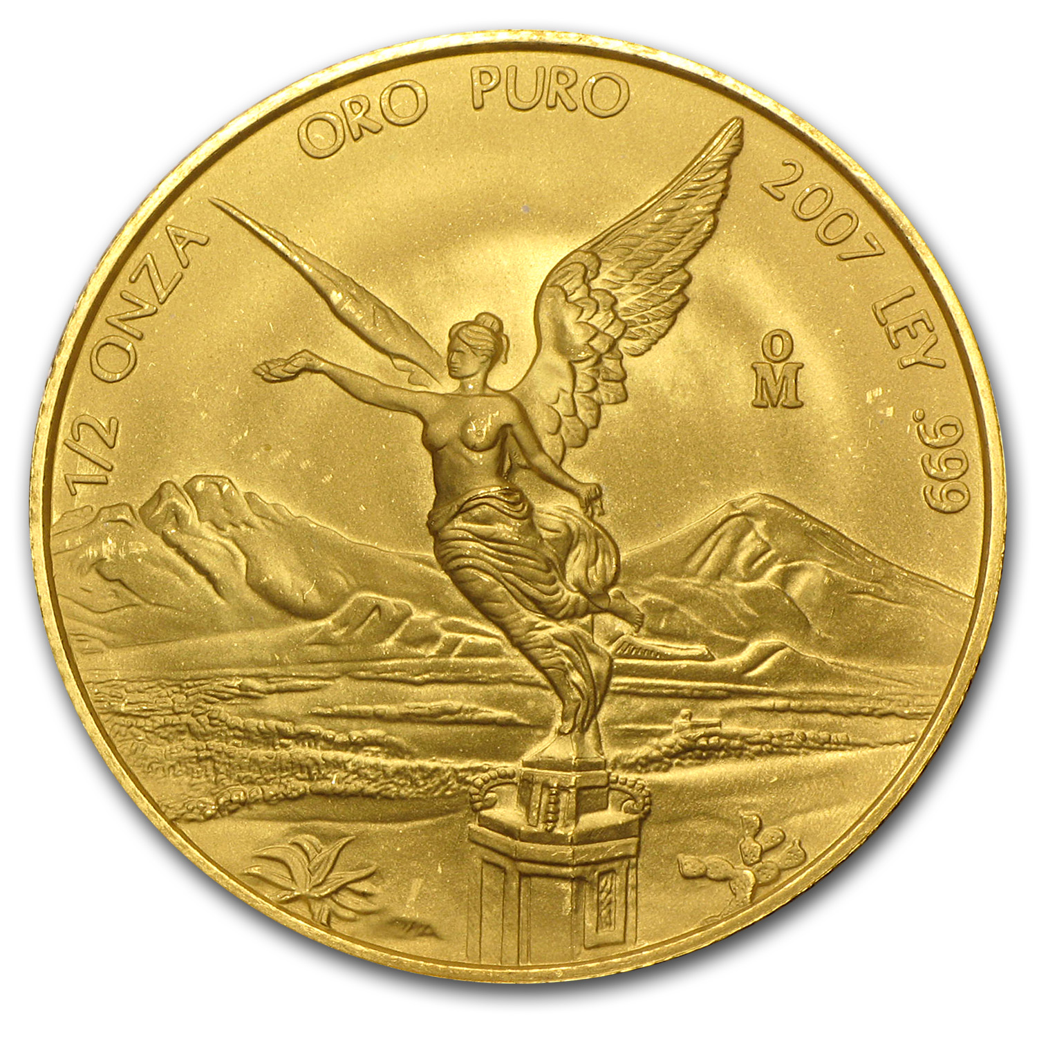 2007 Mexico 1/2 oz Gold Libertad BU