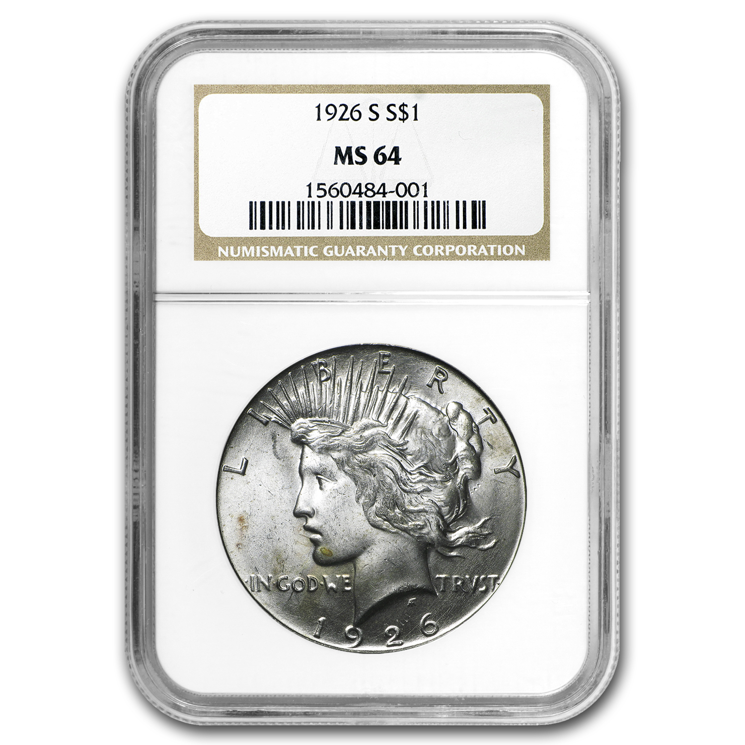 1926-S Peace Dollar MS-64 NGC
