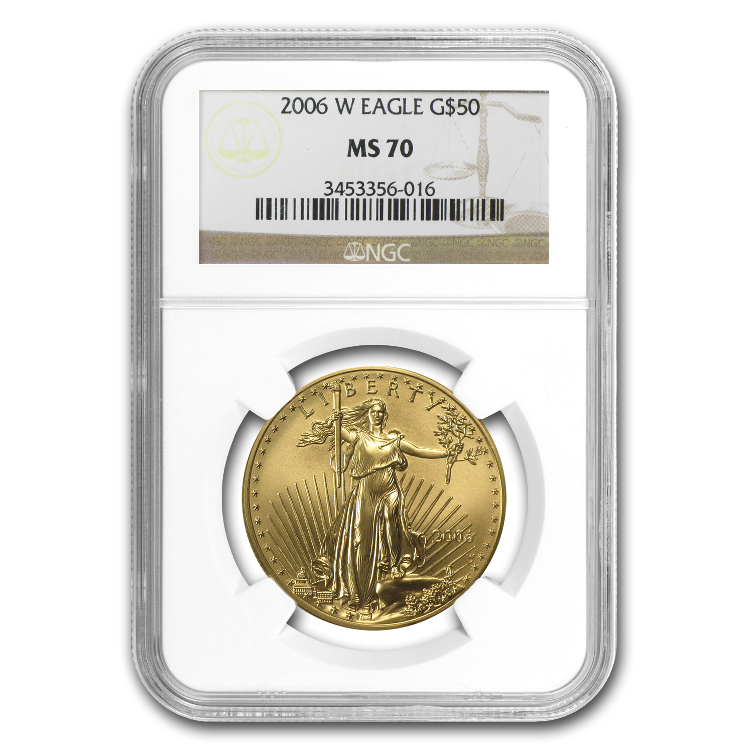 2006-W 1 oz Burnished Gold American Eagle MS-70 NGC