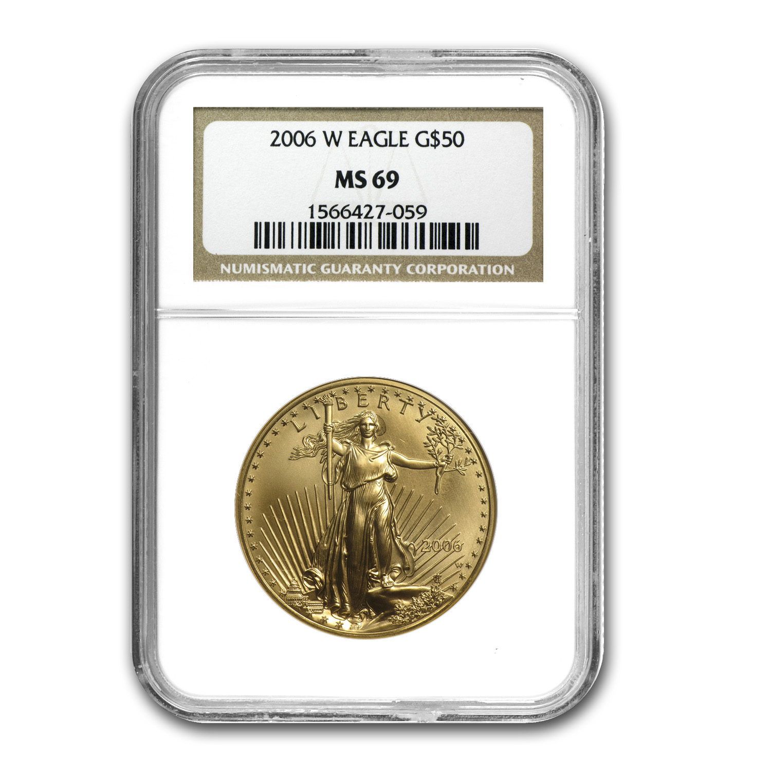 2006-W 1 oz Burnished Gold Eagle MS-69 NGC