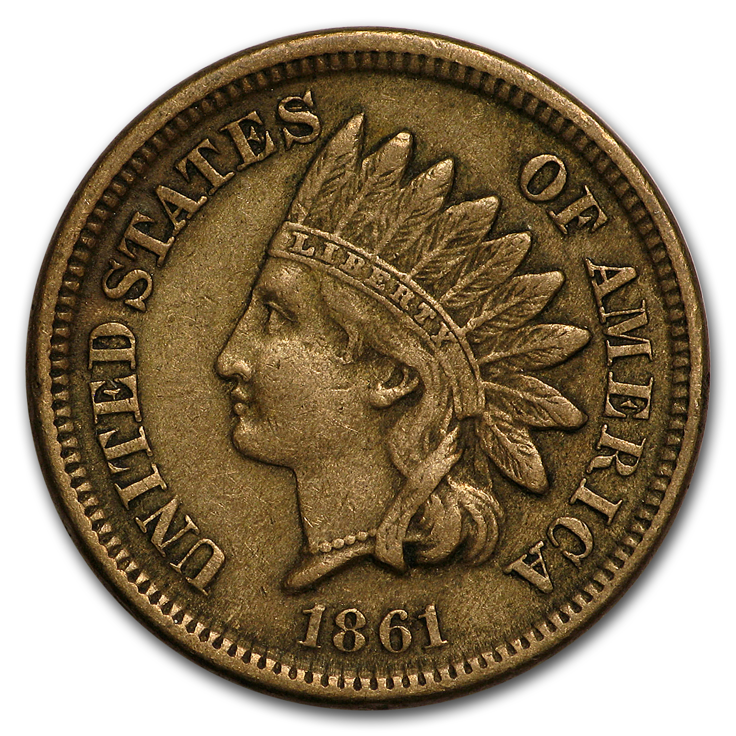 1861 Indian Head Cent XF