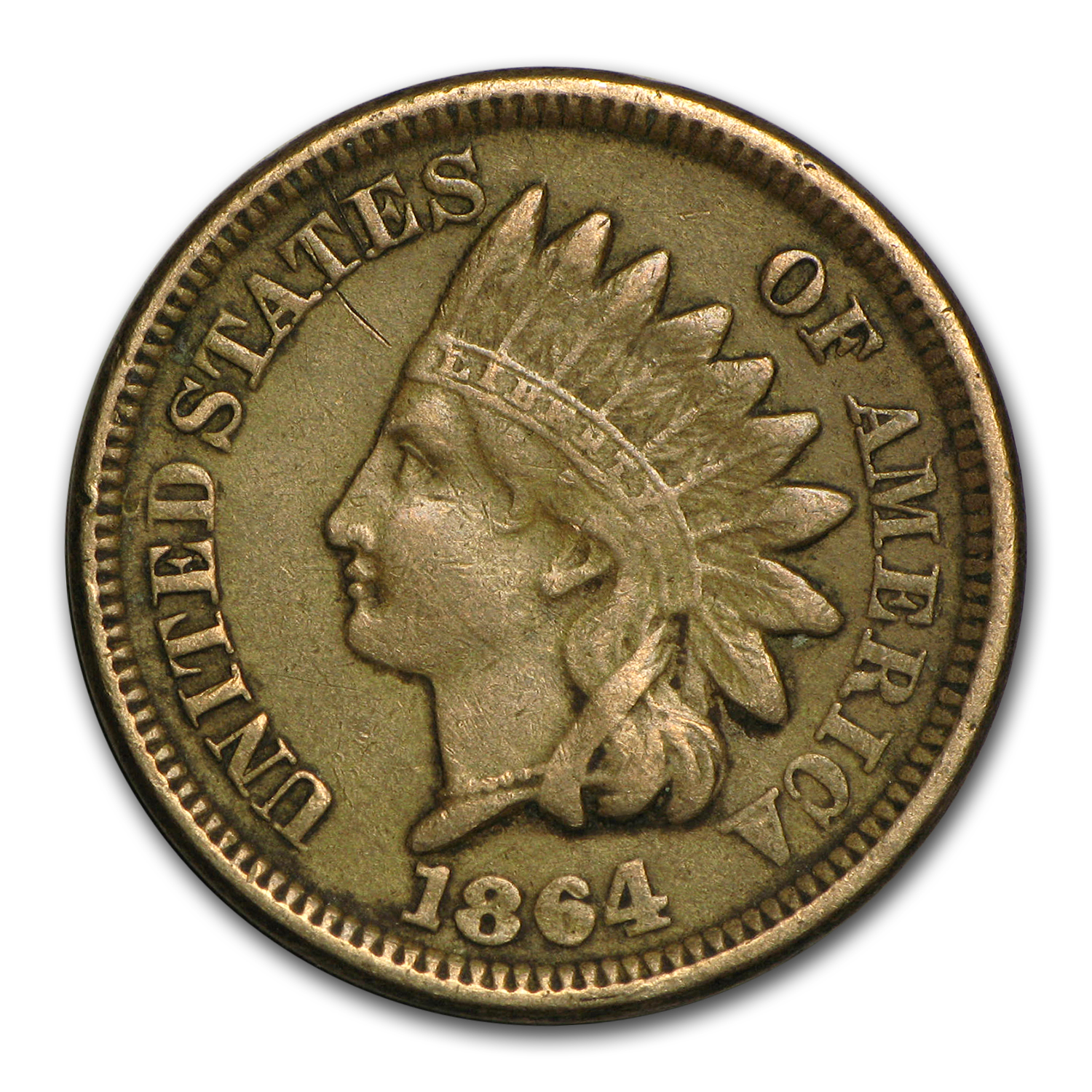 1864 Indian Head Cent Copper-Nickel VF