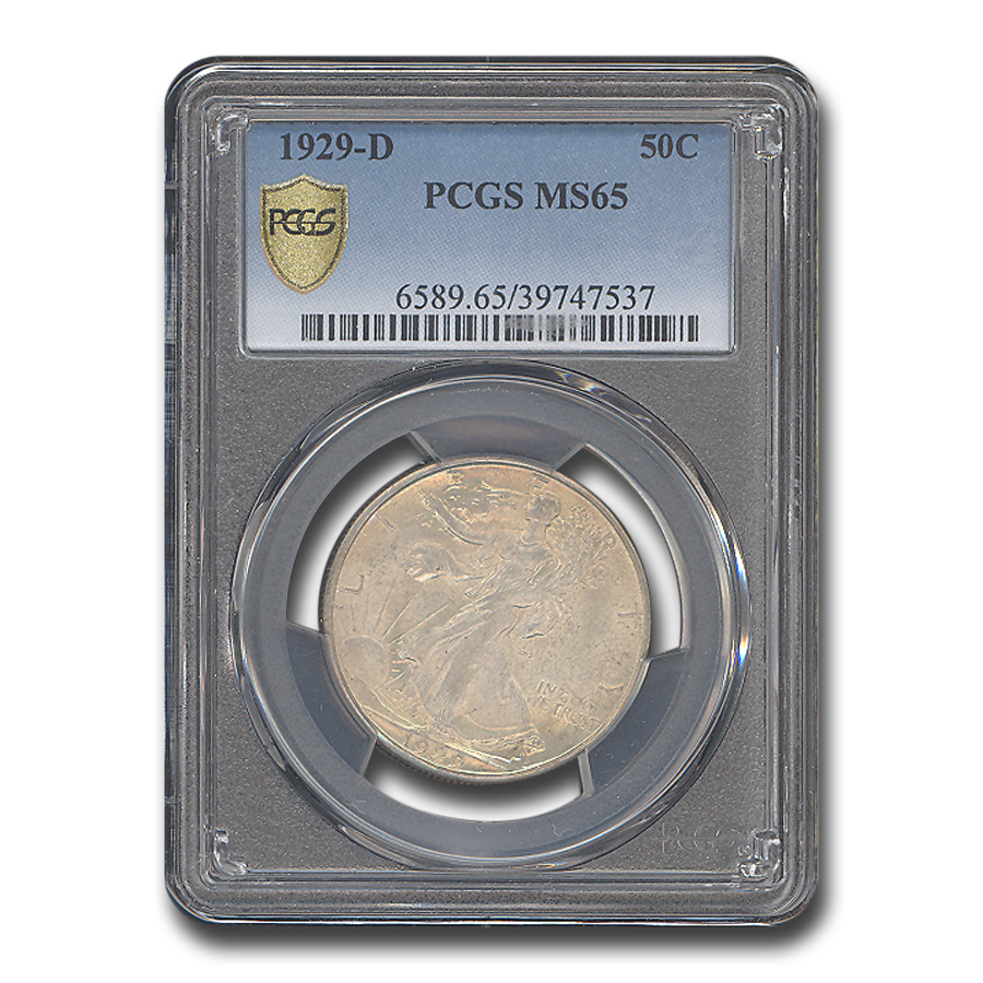 1929-D Walking Liberty Half Dollar MS-65 PCGS