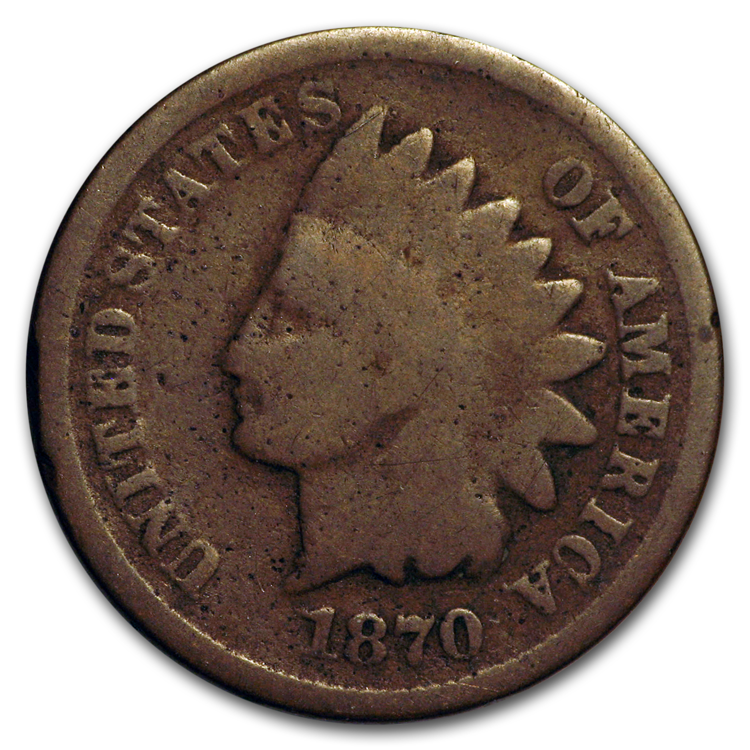 1870 Indian Head Cent   Almost Good