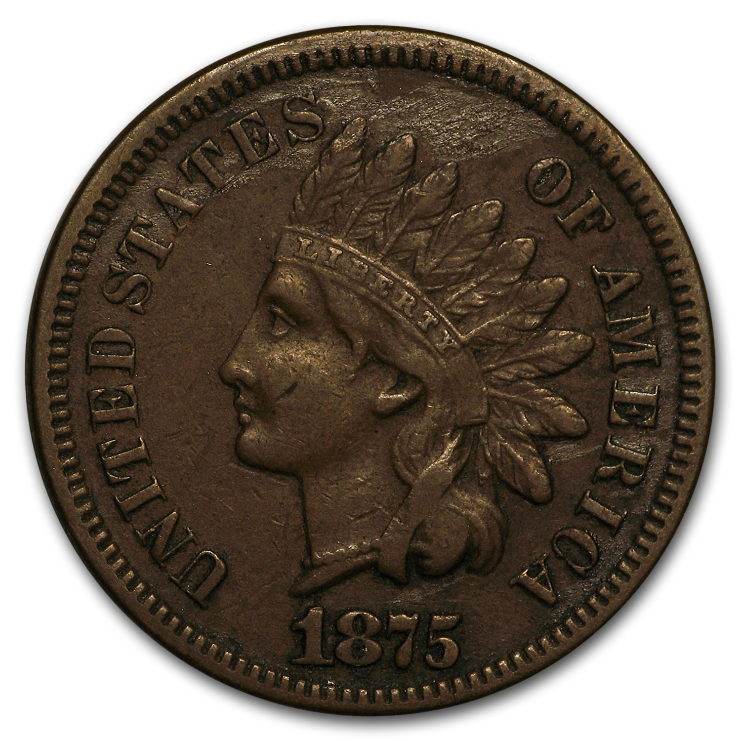 1875 Indian Head Cent VF