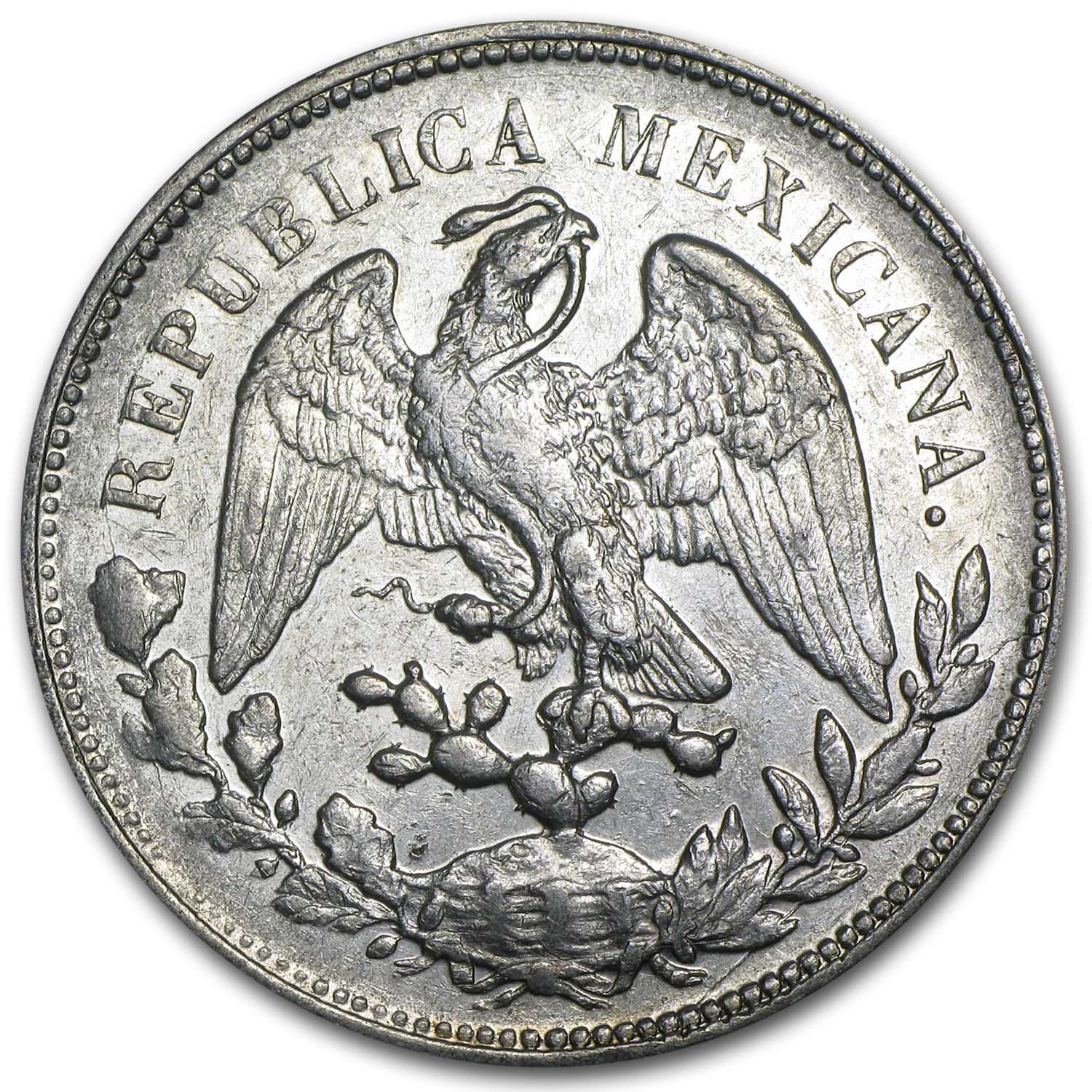 1898-1909 Mexican Silver 1 Peso (AU or Better) ASW .7860 oz