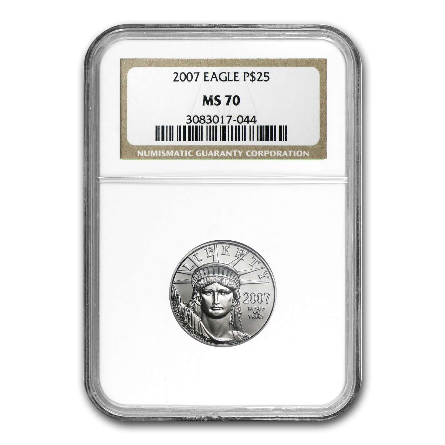 2007 1/4 oz Platinum American Eagle MS-70 NGC