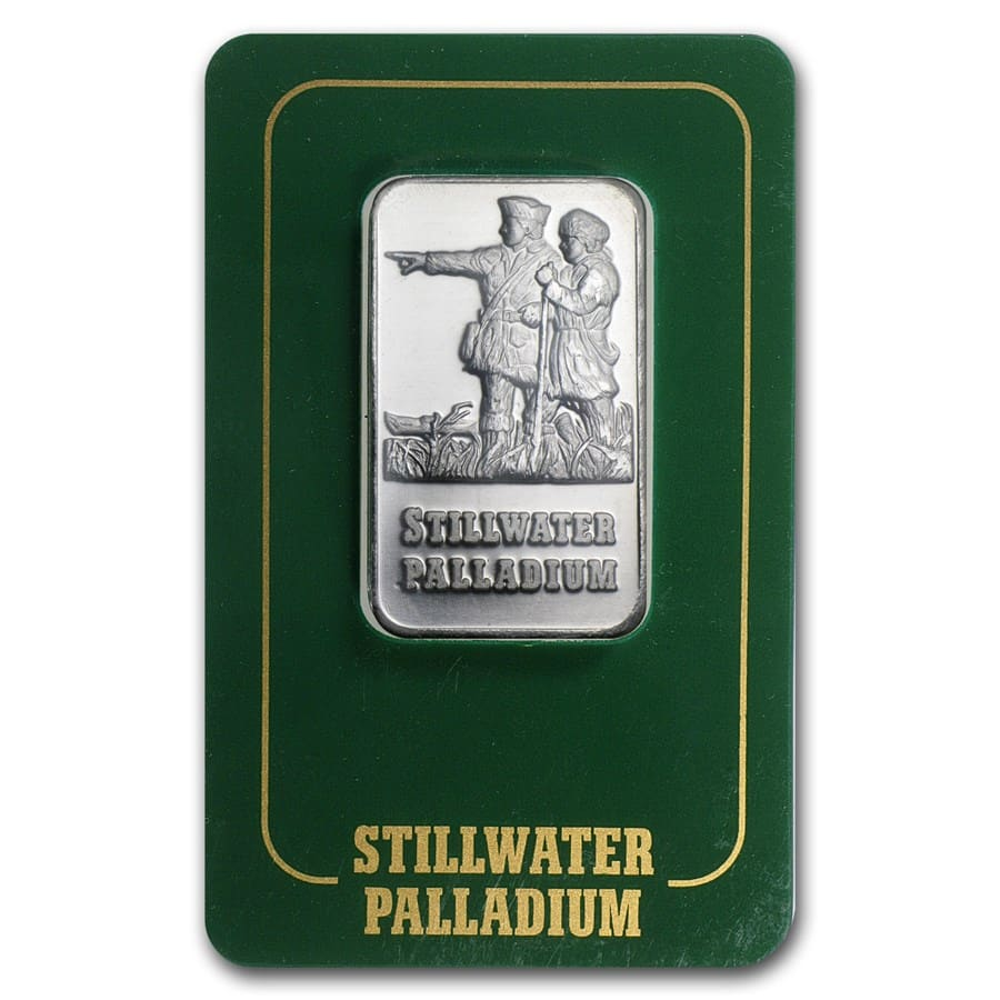 1 oz Palladium Bar - Johnson Matthey Lewis & Clark (In Assay)