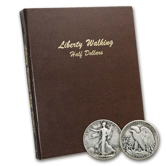 1916-1947 Walking Liberty Half Dollar Set (In Dansco Album)