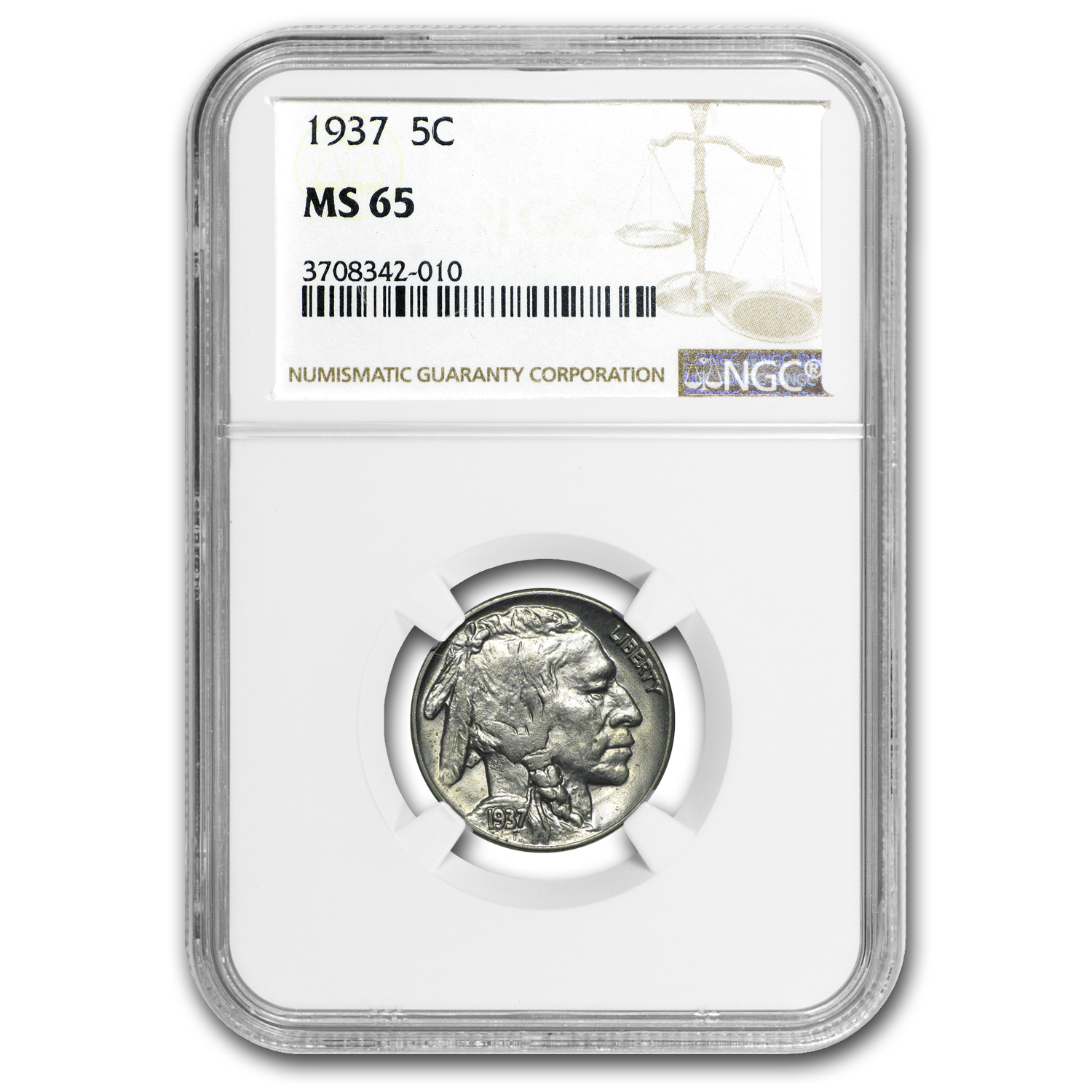 1937 Buffalo Nickel MS-65 NGC