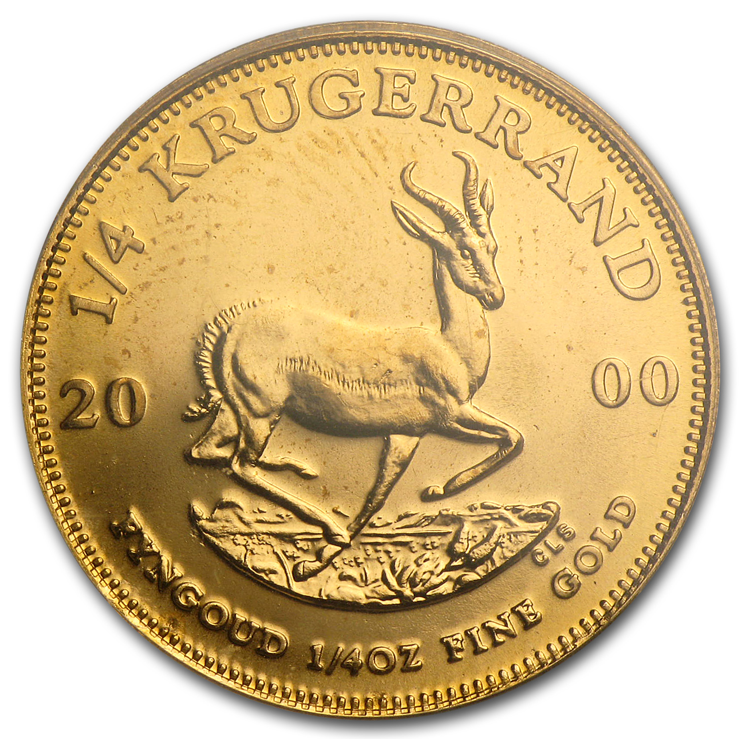 2000 1/4 oz Gold South African Krugerrand PCGS Gem Unc (WTC)