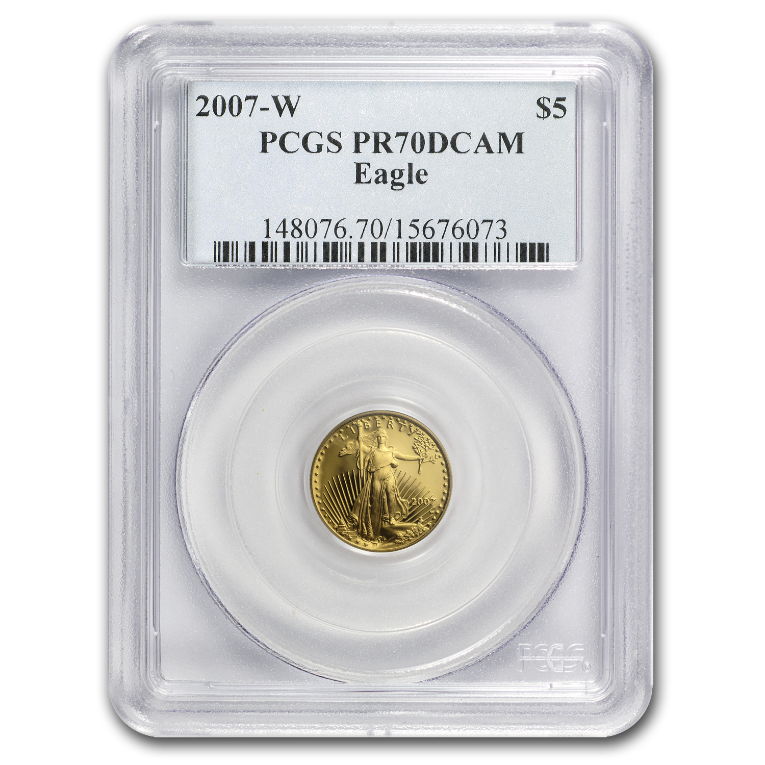 2007-W 1/10 oz Proof Gold American Eagle PR-70 PCGS