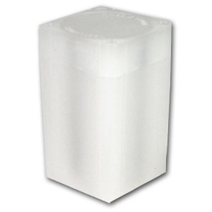 38 mm Large Dollar Size Square Coin Tube - Translucent