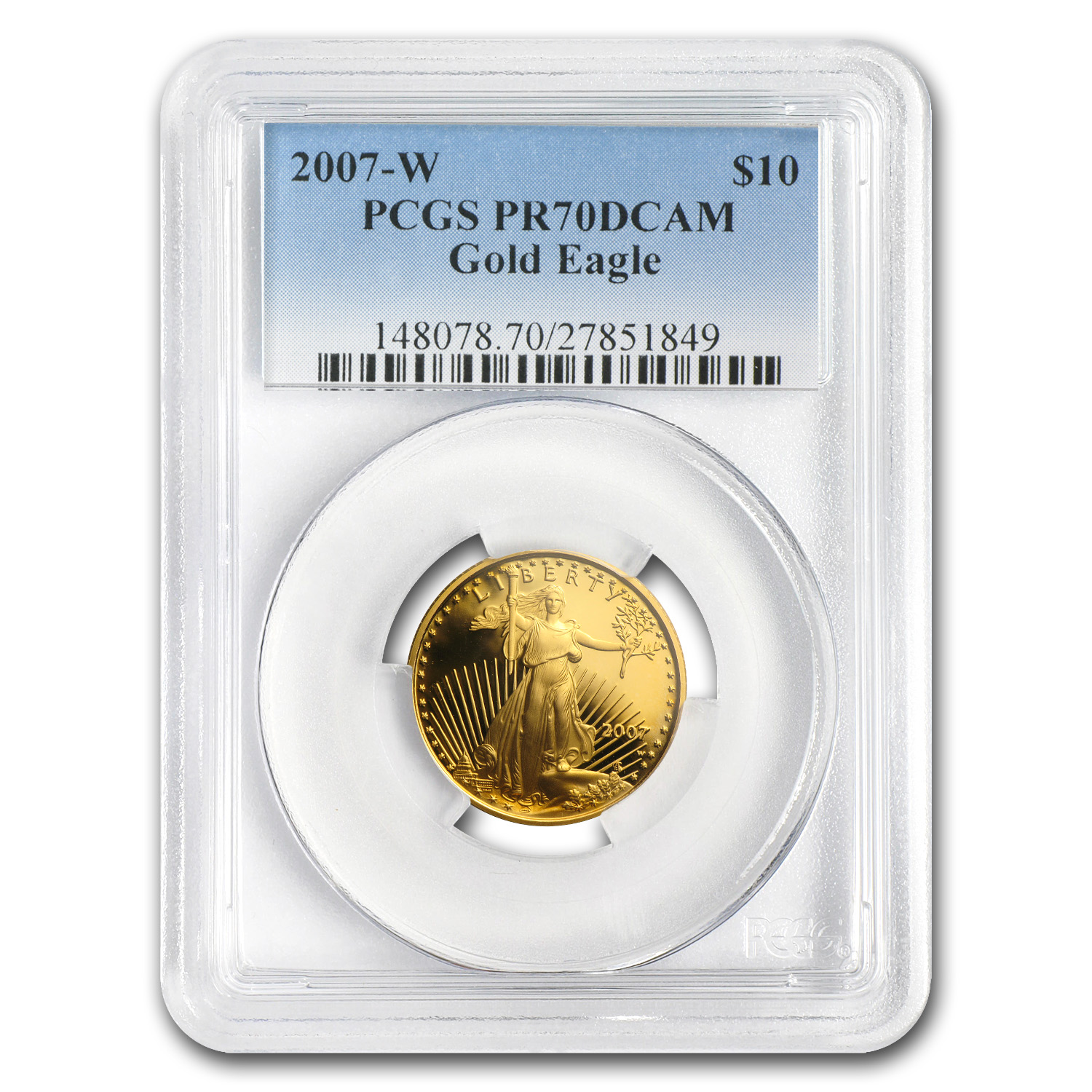 2007-W 1/4 oz Proof Gold American Eagle PR-70 DCAM PCGS