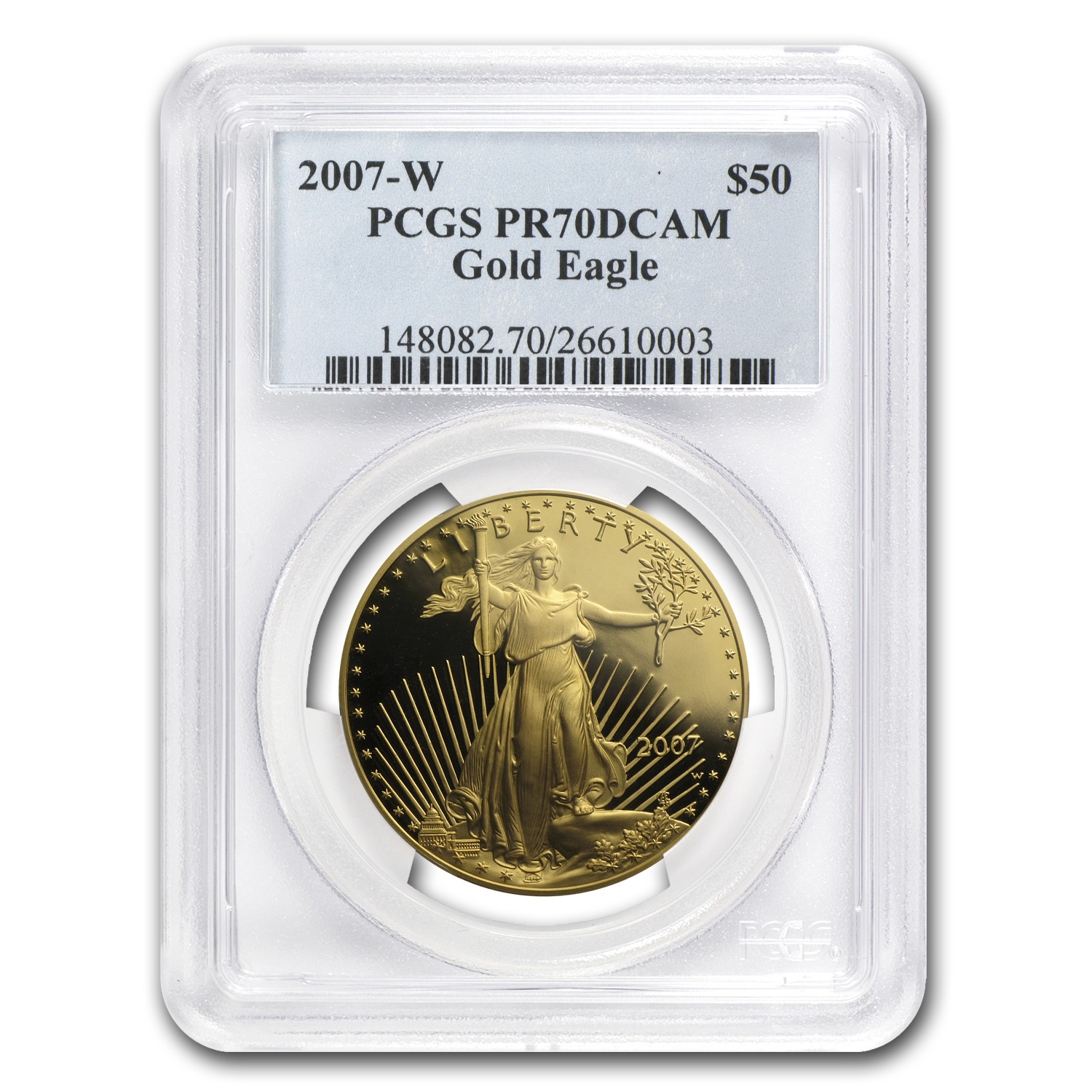2007-W 1 oz Proof Gold American Eagle PR-70 PCGS