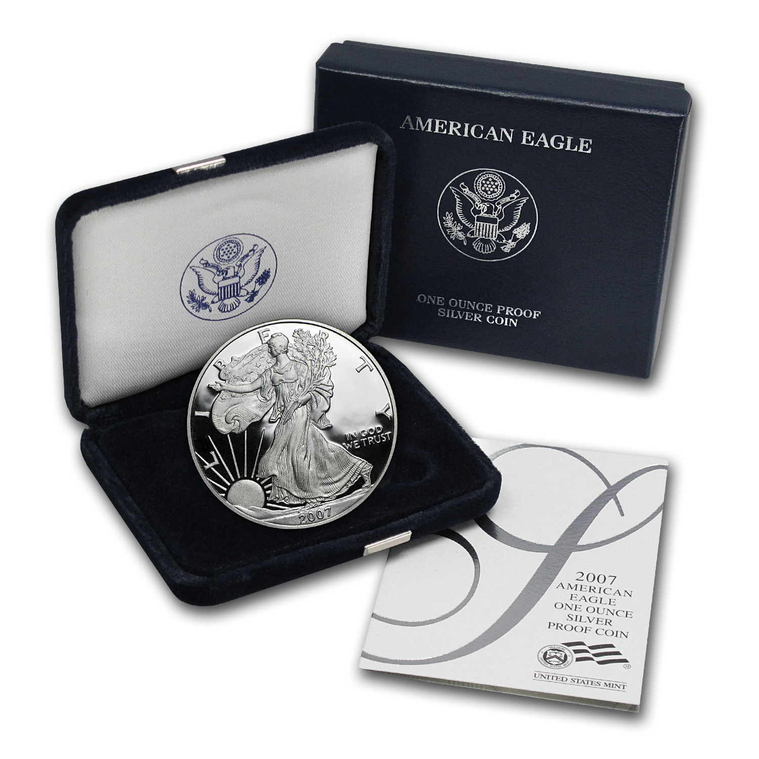 2007-W 1 oz Proof Silver American Eagle (w/Box & COA)