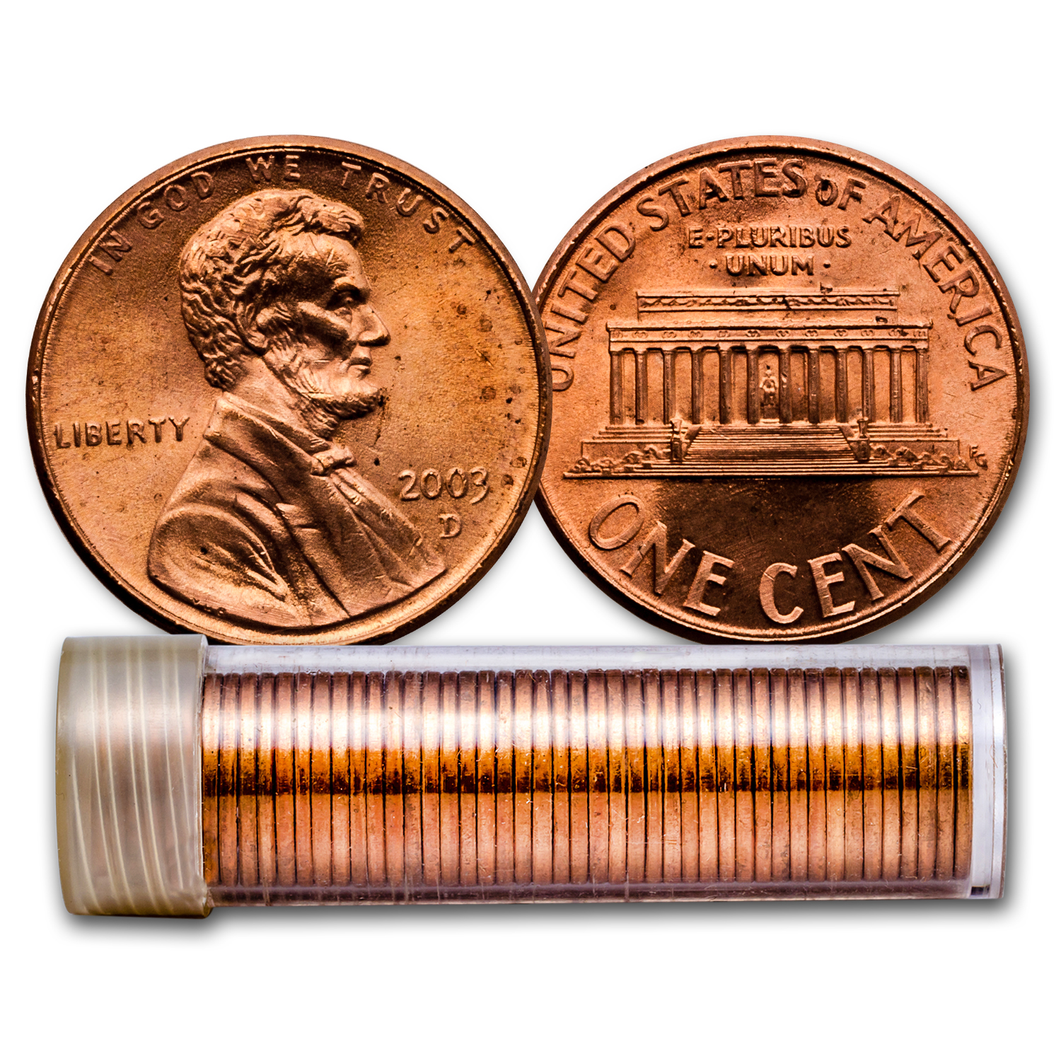 2003-D Lincoln Cent 50-Coin Roll BU