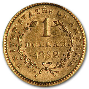 1852 $1 Liberty Head Gold AU-58 NGC