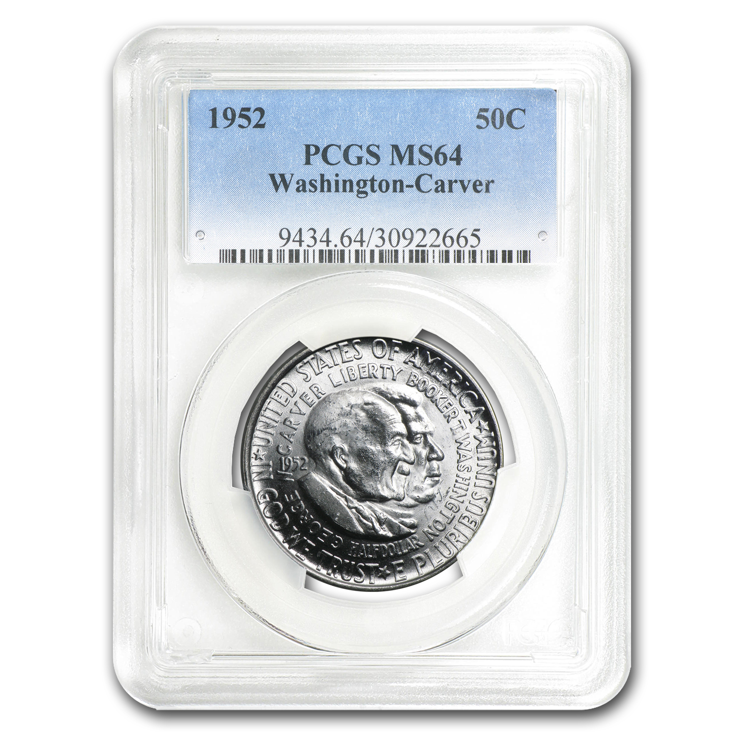 1952 Washington-Carver Half MS-64 PCGS