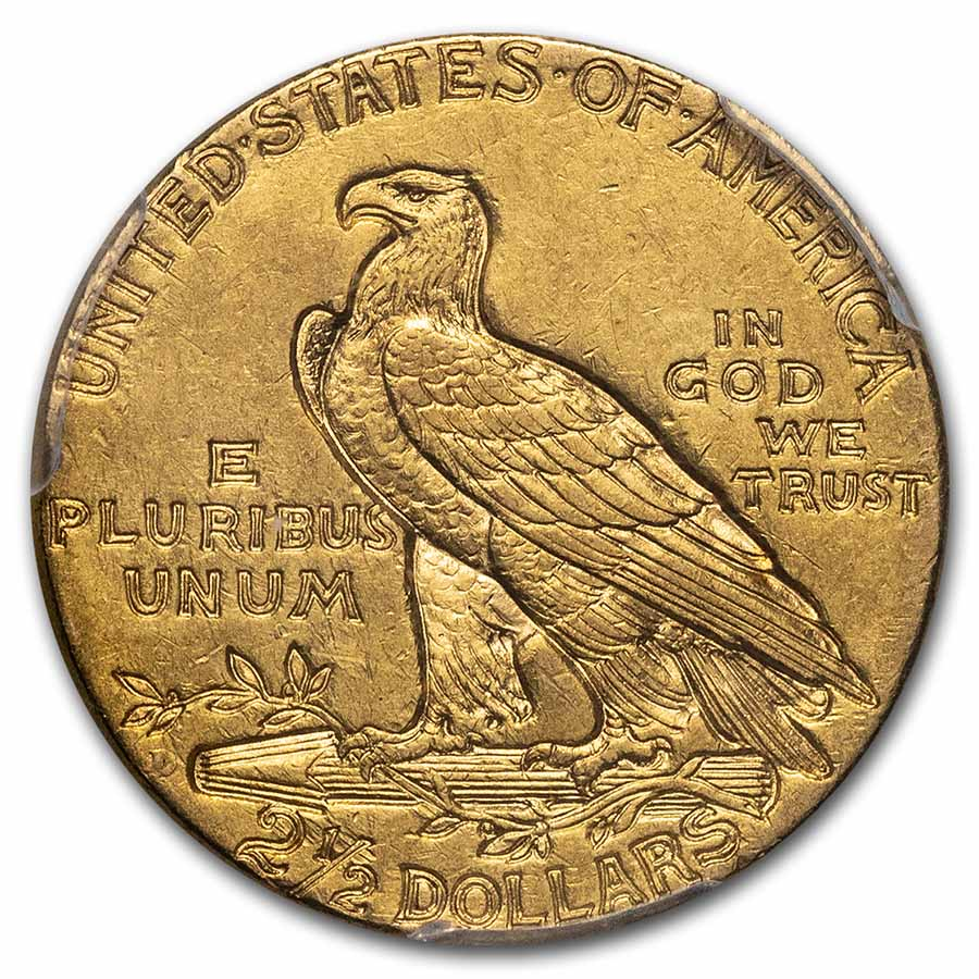 1925-D $2.50 Indian Gold Quarter Eagle - AU-58 PCGS
