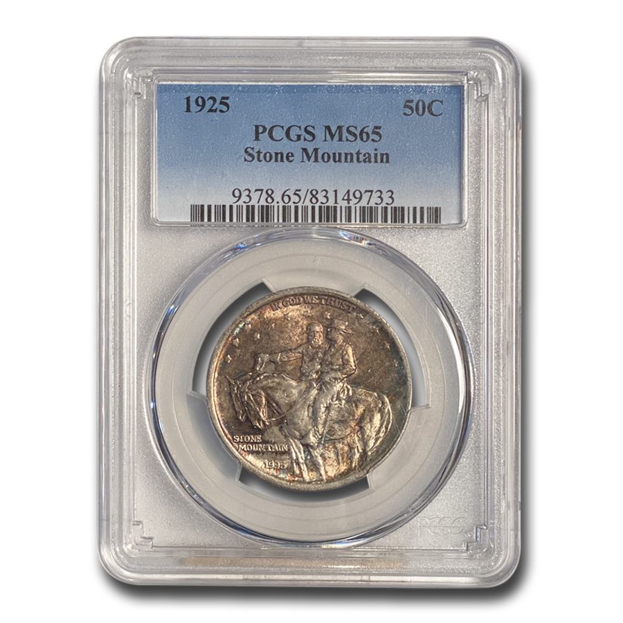 1925 Stone Mountain Memorial Half MS-65 PCGS (Original Toning)
