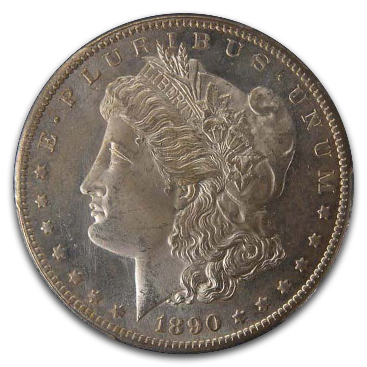 1890-S Morgan Dollar MS-65 PCGS (Toned)