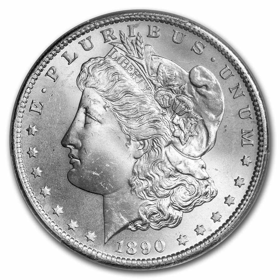 1890-S Morgan Dollar - MS 65 PCGS