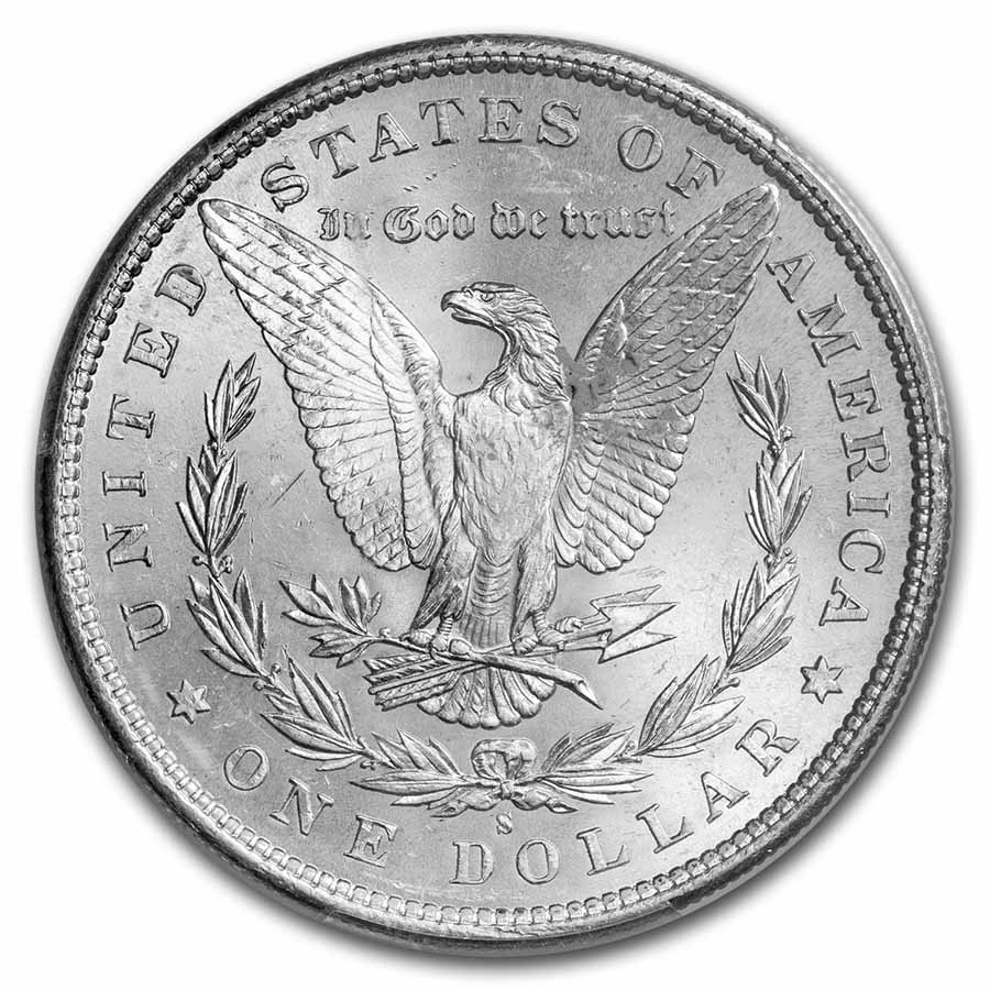 1890-S Morgan Dollar MS 65 PCGS