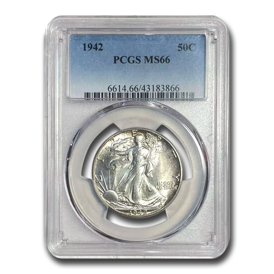 1942 Walking Liberty Half Dollar MS-66 PCGS