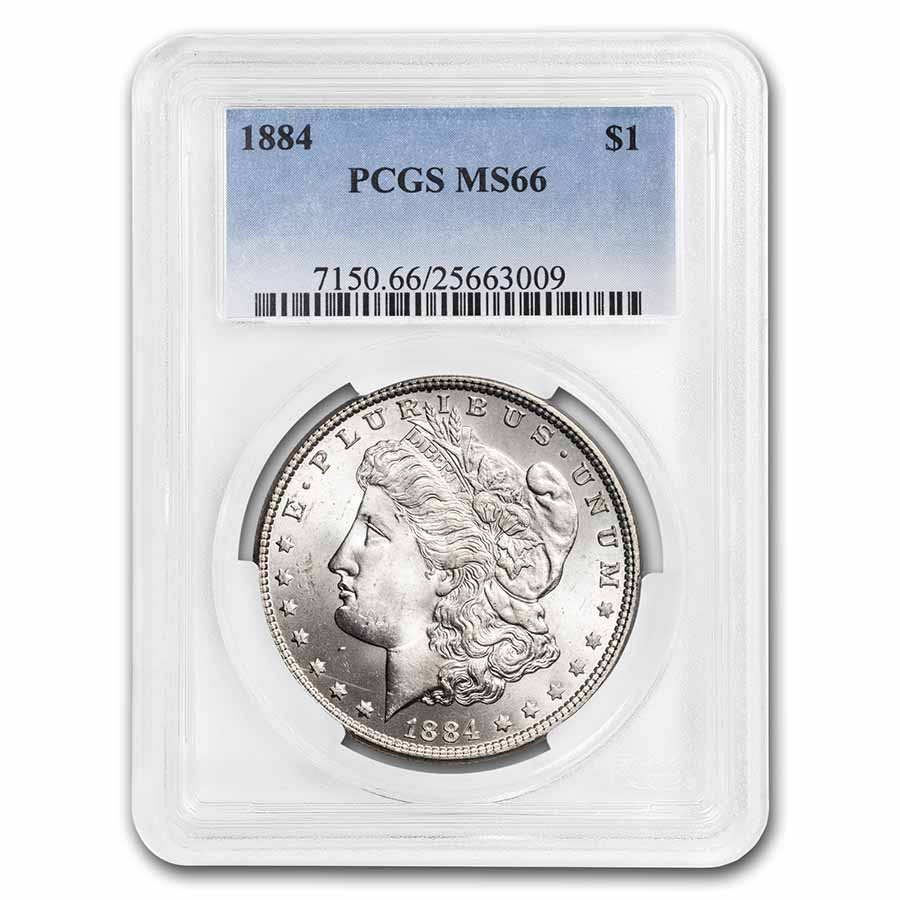 1884 Morgan Dollar MS-66 PCGS
