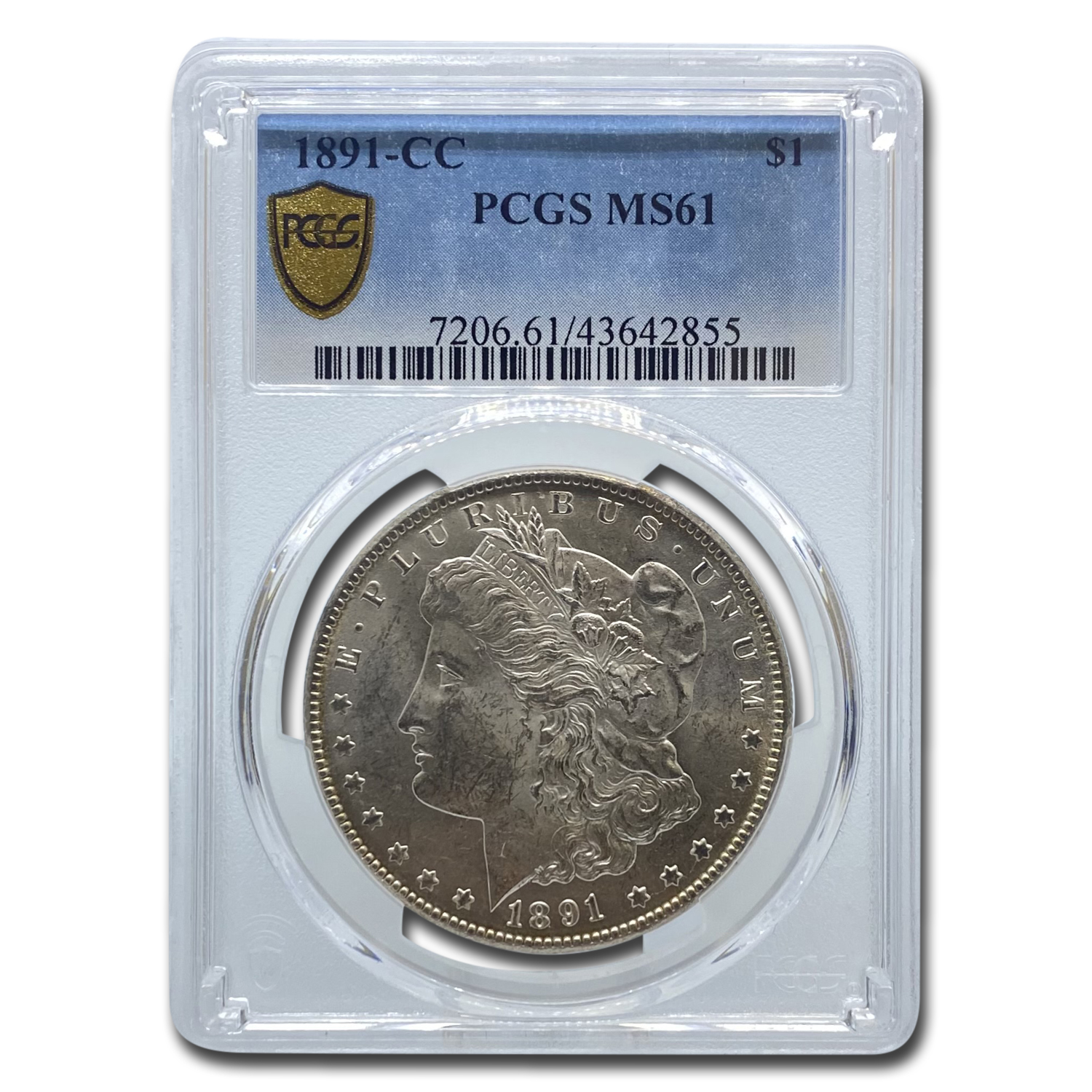 1891-CC Morgan Dollar MS-61 PCGS