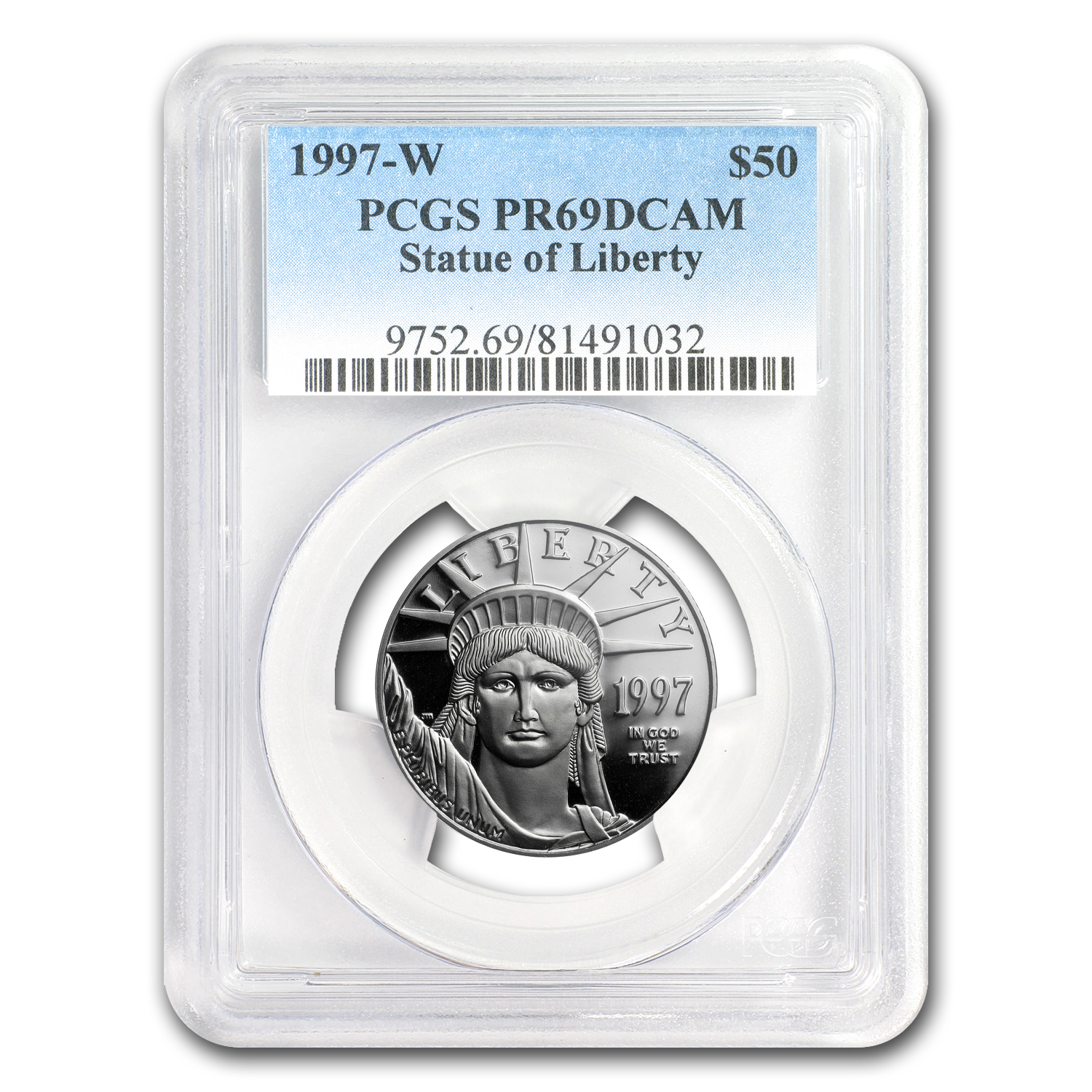 1997-W 1/2 oz Proof Platinum American Eagle PR-69 PCGS