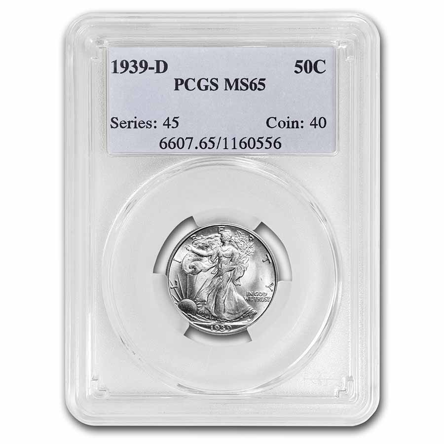 1939-D Walking Liberty Half Dollar MS-65 PCGS