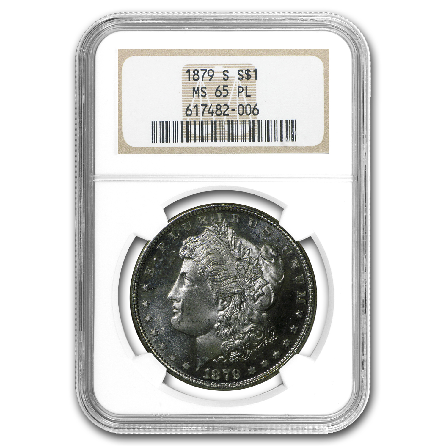1879-S Morgan Dollar MS-65 PL Proof Like NGC