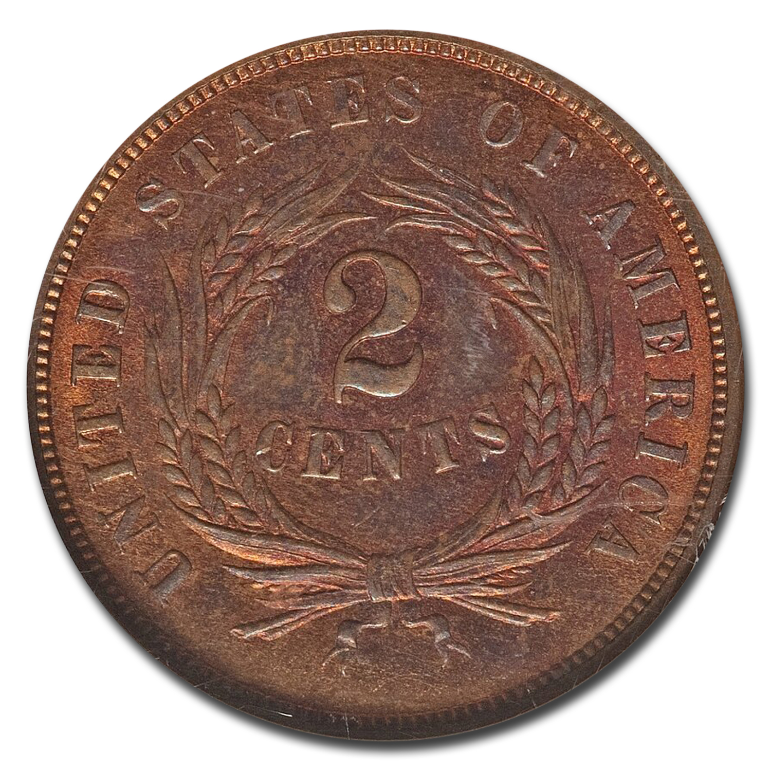 1864 two cent piece large cent