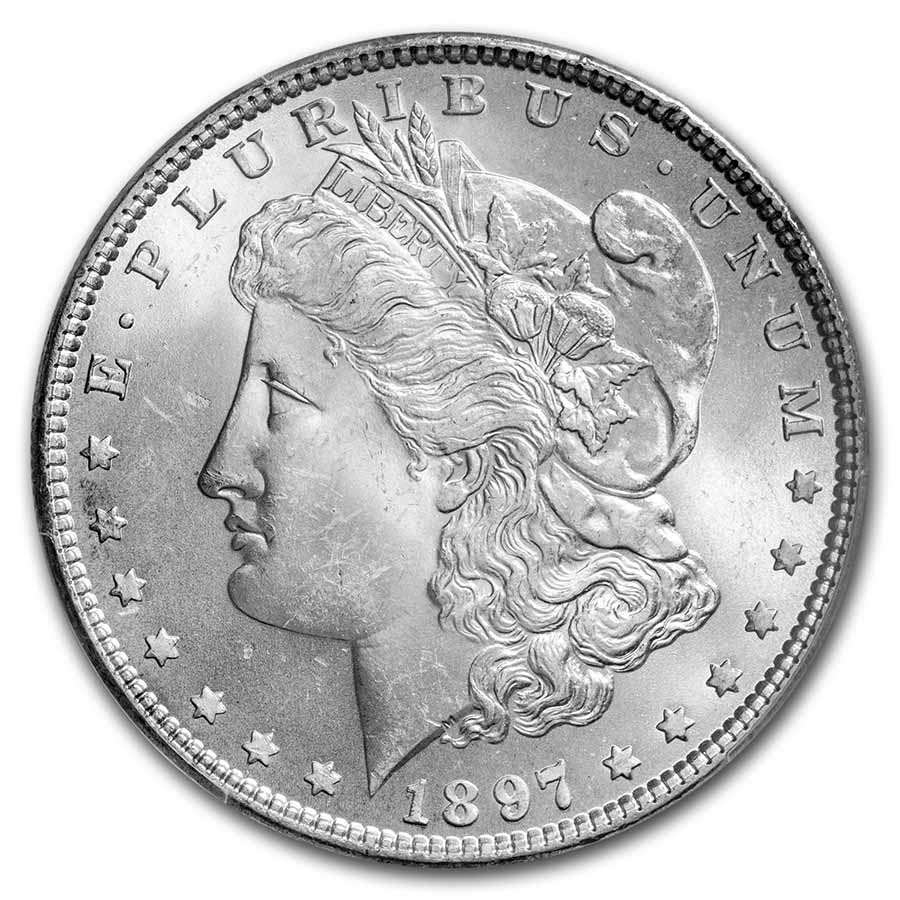 1897 Morgan Dollar MS-65 PCGS