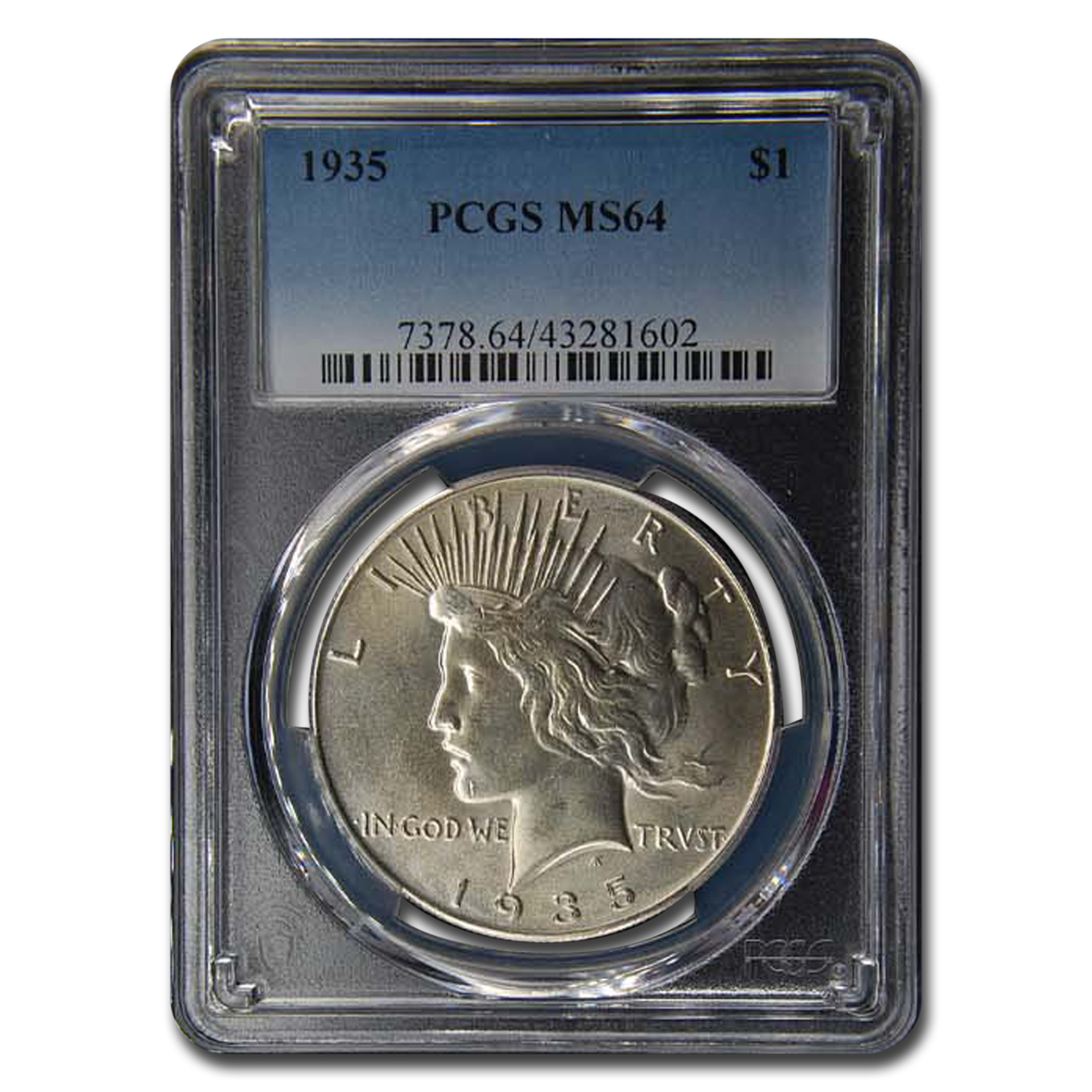 1935 Peace Dollar MS-64 PCGS
