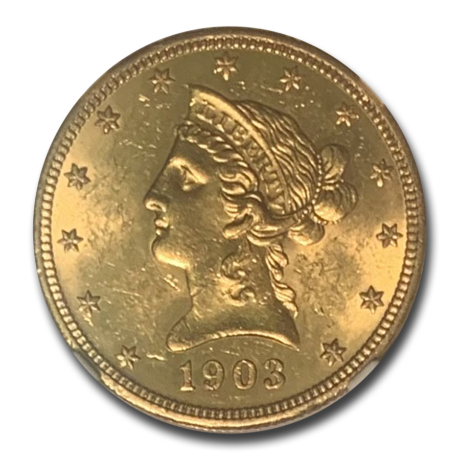 1903-O $10 Liberty Gold Eagle MS-62 NGC