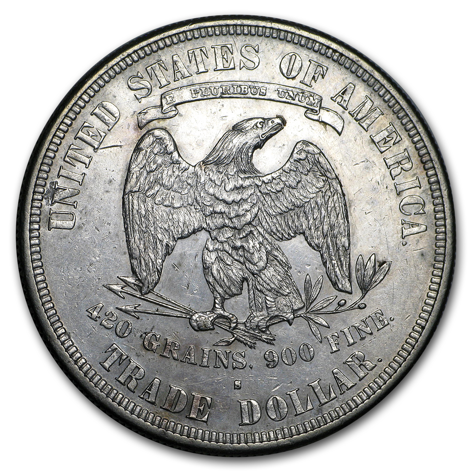 1877-S Trade Dollar - Almost Uncirculated