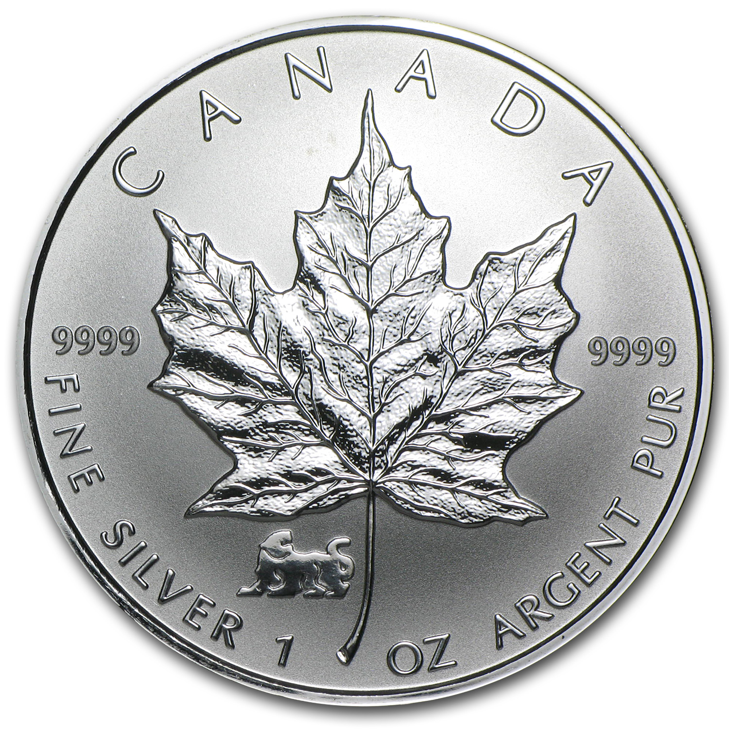 1998 1 oz Silver Canadian Maple Leaf (Lunar, TIGER Privy)