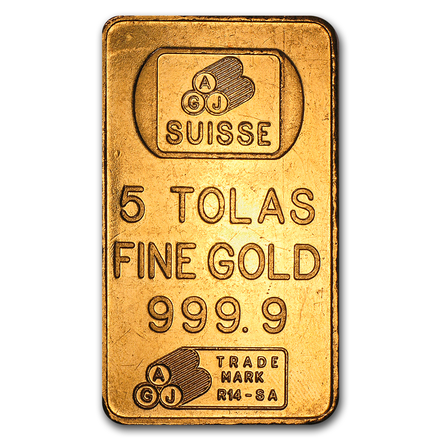 1.875 oz 5 Tolas Gold Bar (Secondary Market) .999+ Fine