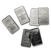 1 gram Platinum Bar - Secondary Market (.999+ Fine)