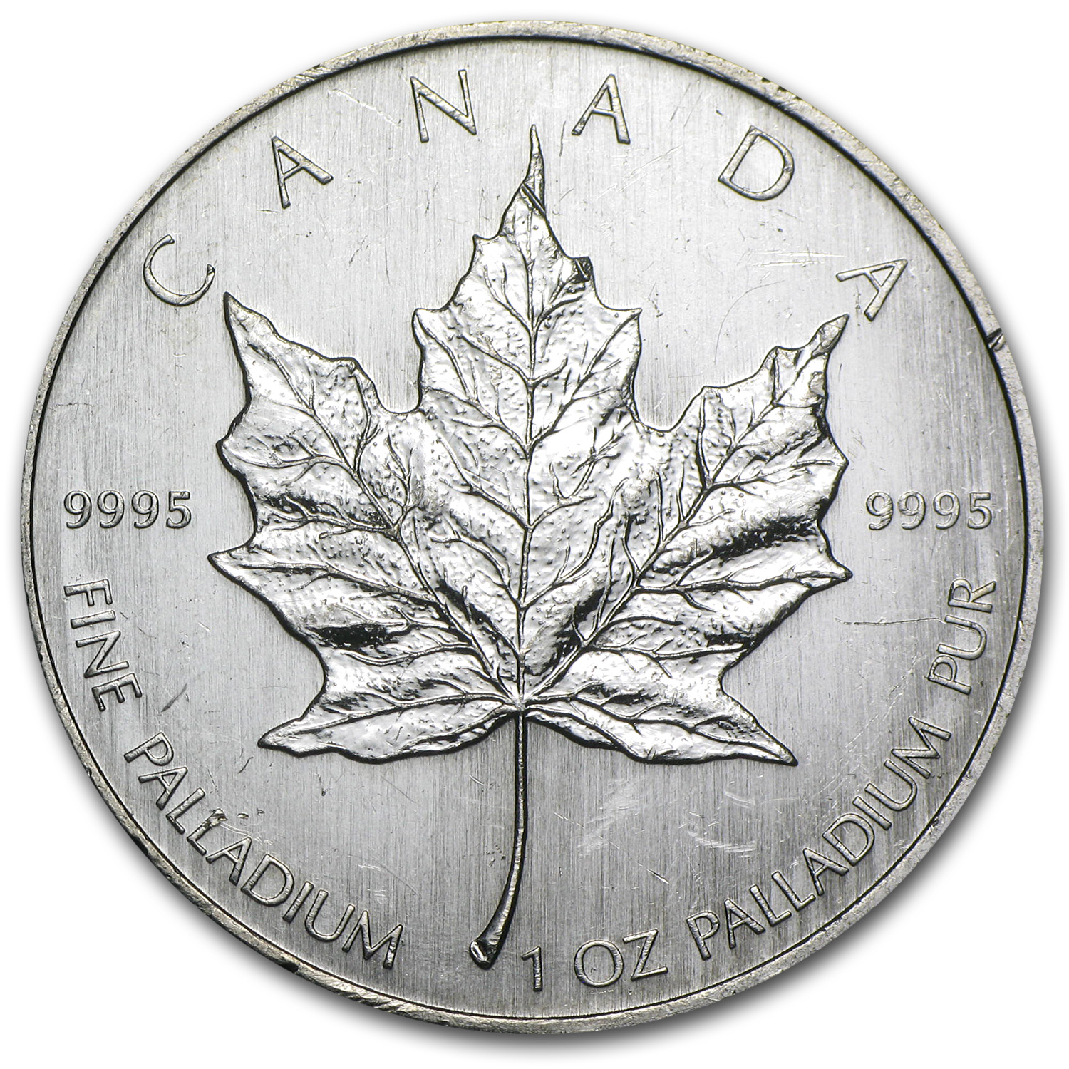 Canada 1 oz Palladium Maple Leaf (Abrasions)