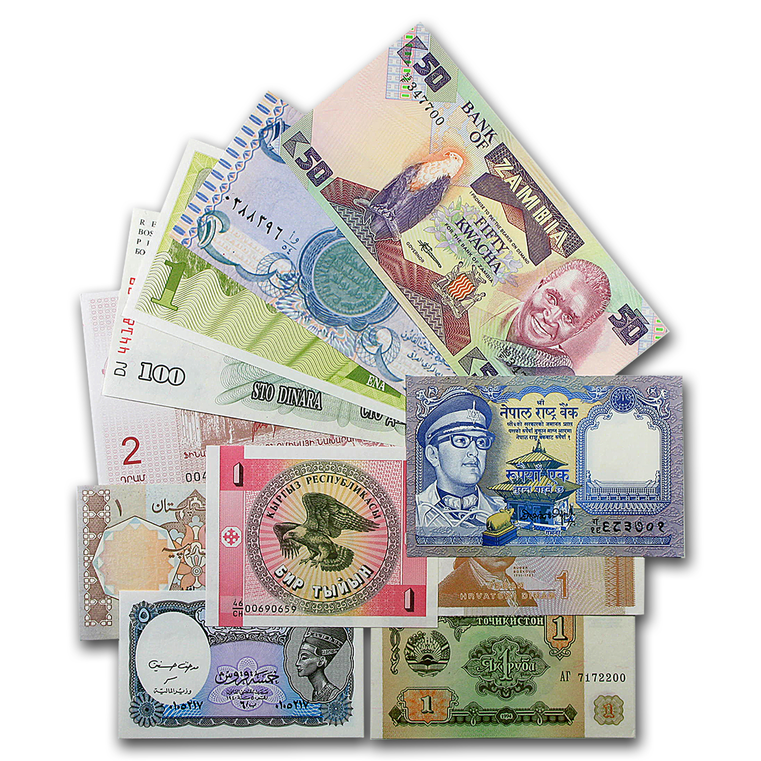25 Piece World Bank Note Assortment - Uncirculated