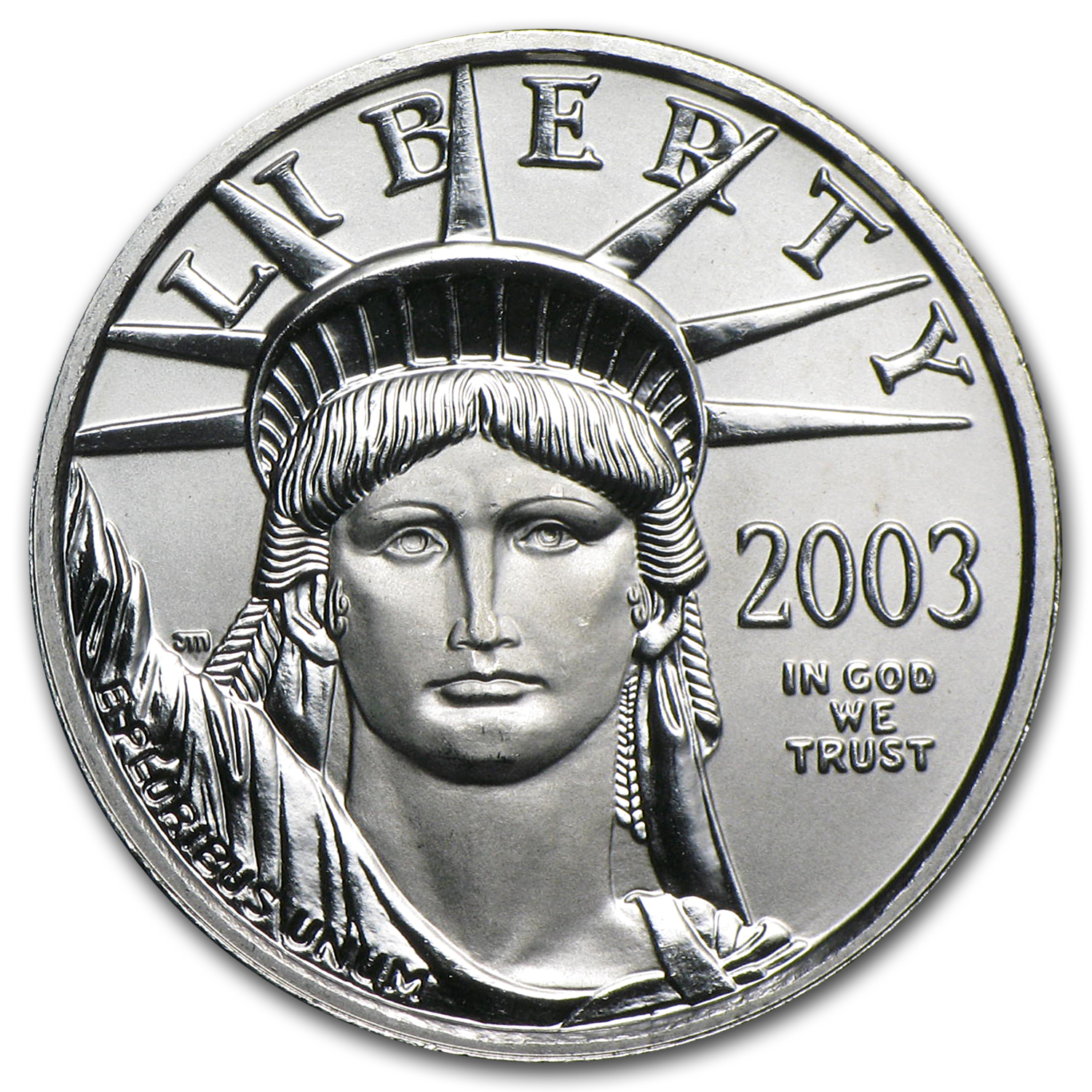 2003 1/4 oz Platinum American Eagle BU