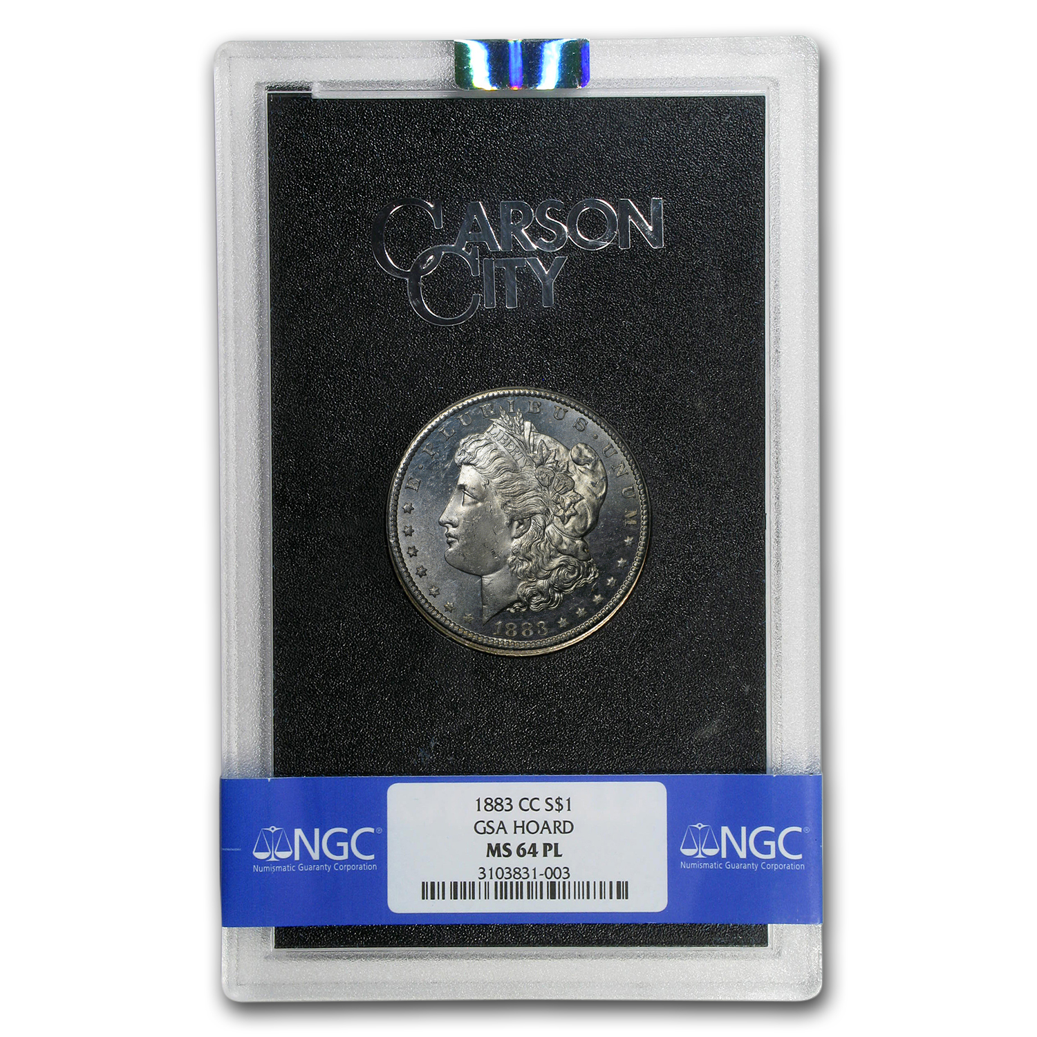 1883-CC Morgan Dollar MS-64 PL NGC (GSA)