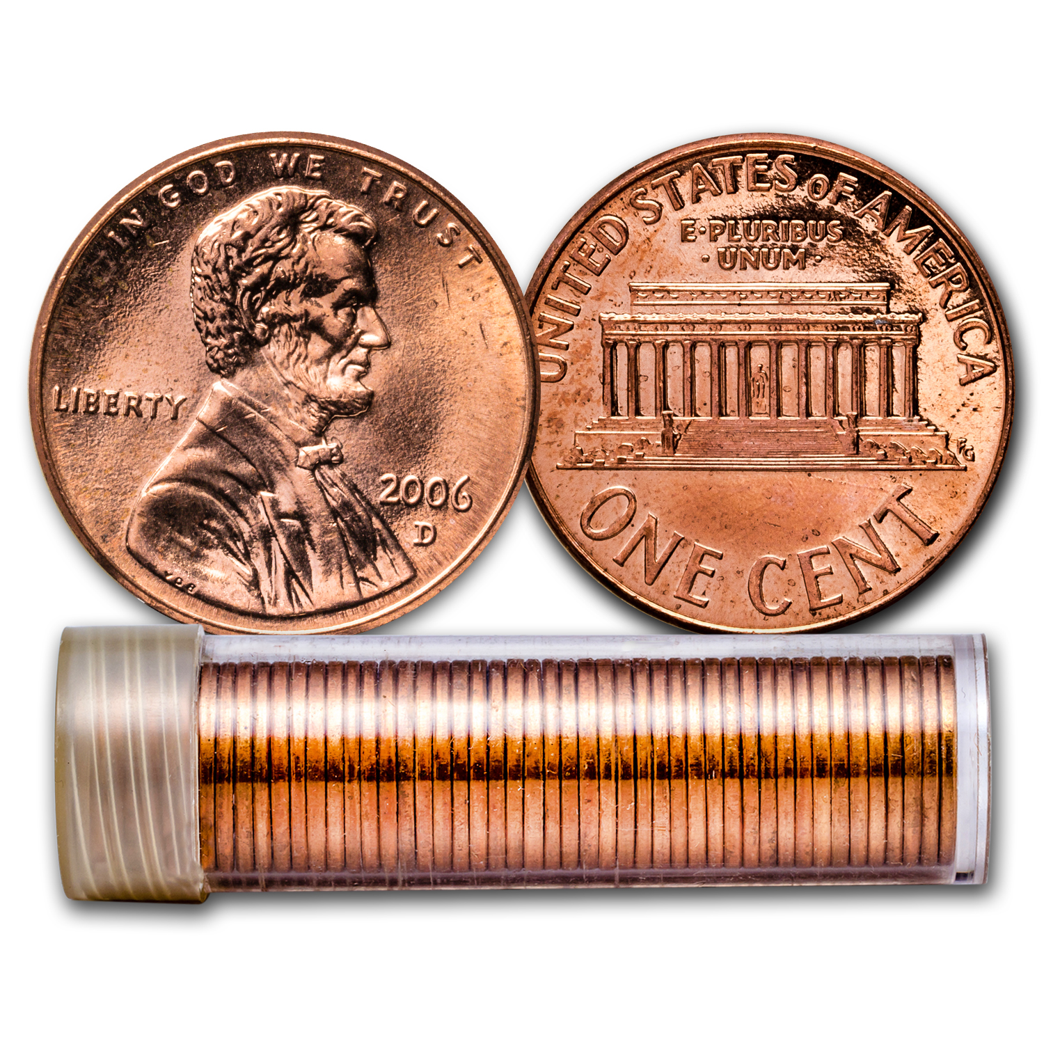 2006-D Lincoln Cent 50-Coin Roll BU