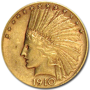 1910-S $10 Indian Gold Eagle Almost Uncirculated