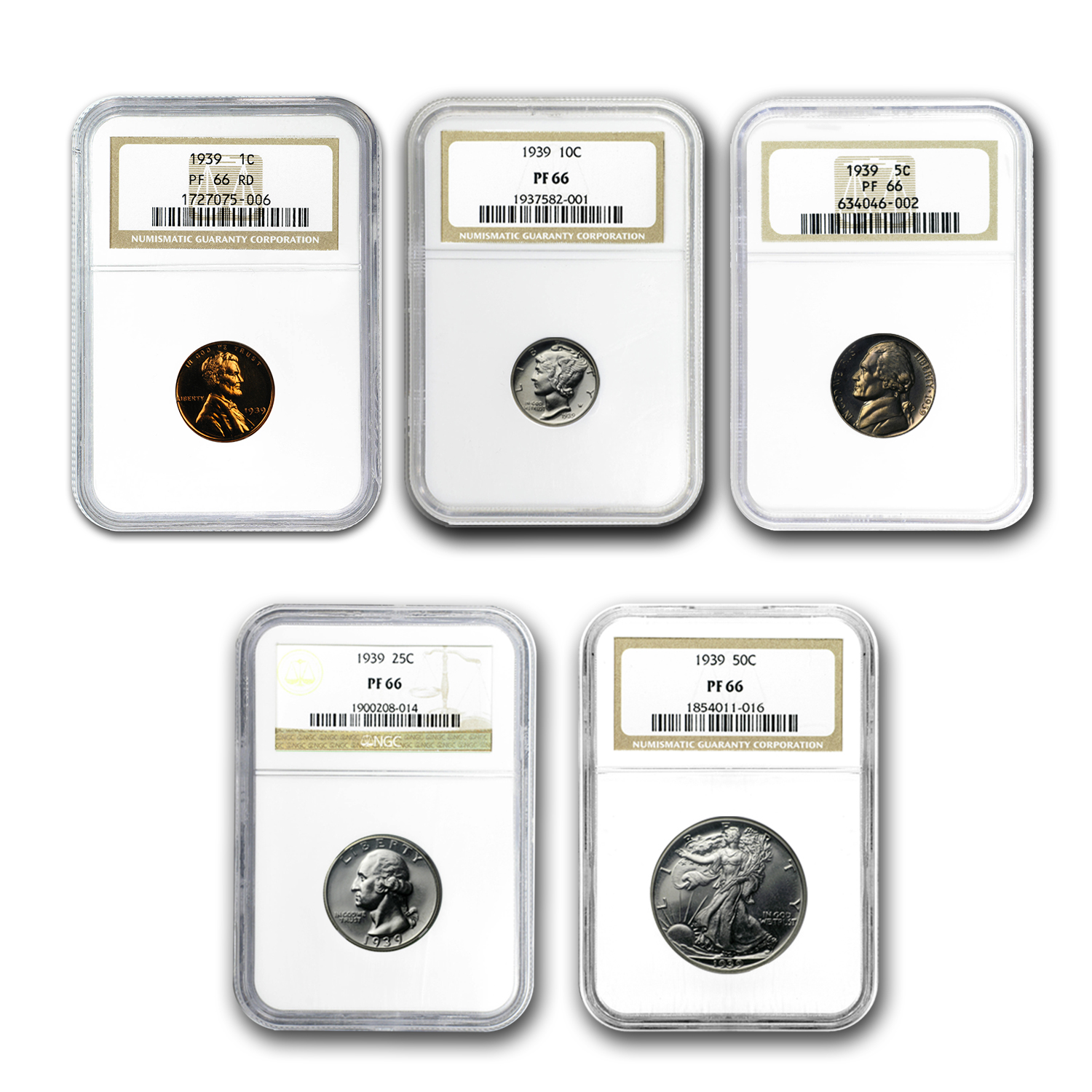 1939 U.S. Proof Set PF-66 NGC