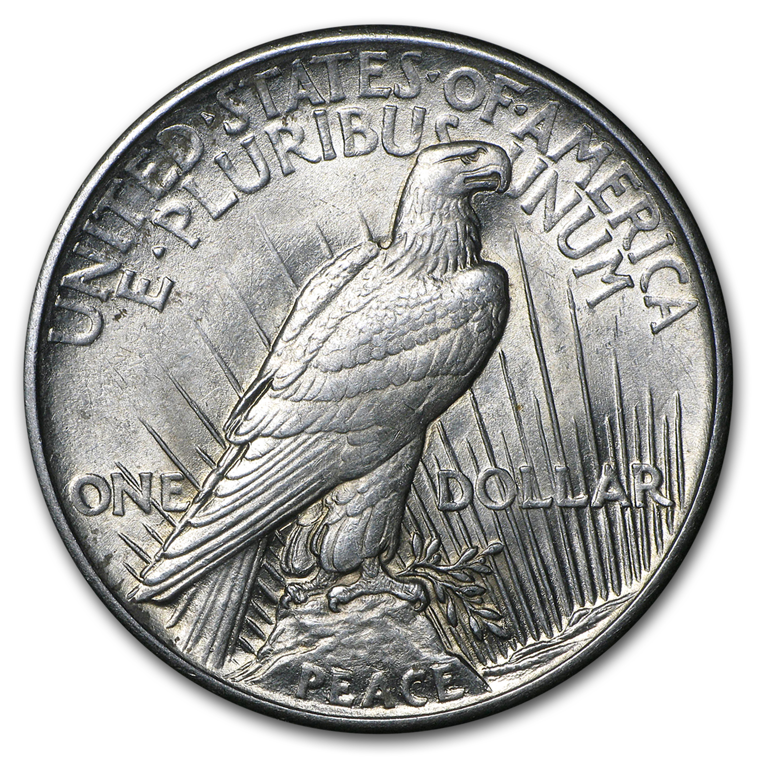1921 Peace Dollar - AU Details - Cleaned High Relief